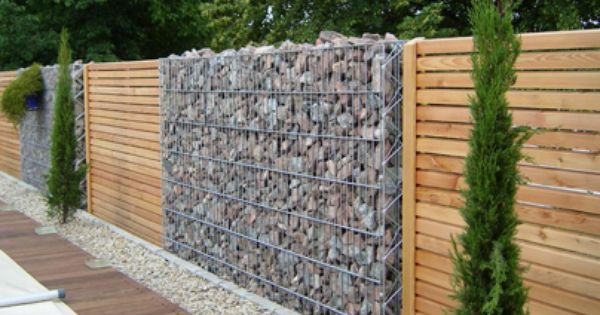 gabion brise vue bois maison pinterest. Black Bedroom Furniture Sets. Home Design Ideas
