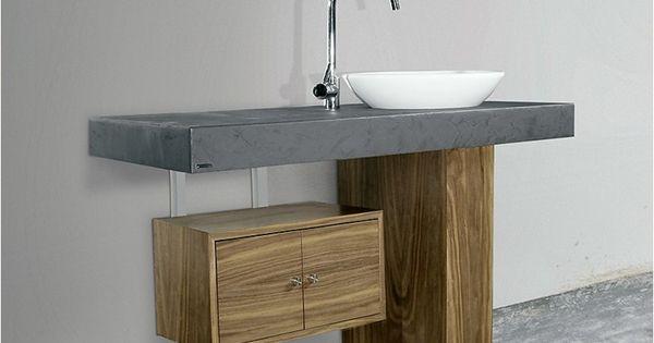 Meuble sous vasque sur pieds 701 meuble sous vasque - Meuble lavabo sur pied ...