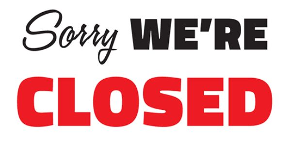 free sorry we u0026 39 re closed printable sign template