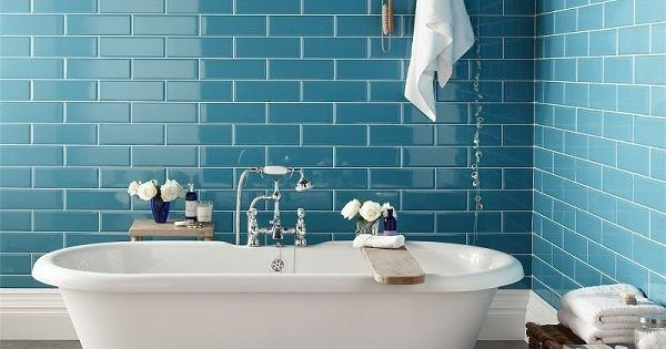 badezimmergestaltung mit fliesen blaue wandfliesen cabin fever pinterest bathroom. Black Bedroom Furniture Sets. Home Design Ideas