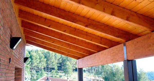 Terrazas con losas y vigas de madera buscar con google - Losas para terrazas ...