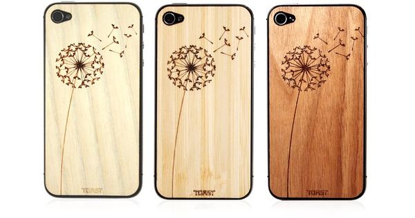 phone // wooden dandelion iphone case