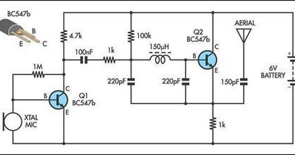 simple am transmitter circuit diagram