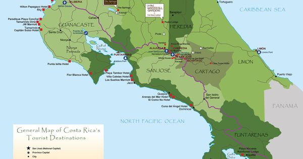 Costa Rica Attractions Arenal Costa Rica Map Been There Done