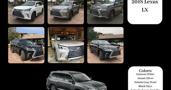 The Art Of Color 2018 Lexus Lx Color Chart Lexus Models Pearl