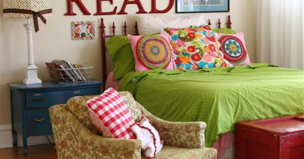 I like the 'Read' letters. Cute in a reading nook!