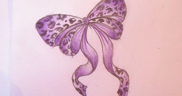 Leopard Print Bow Tattoo idea