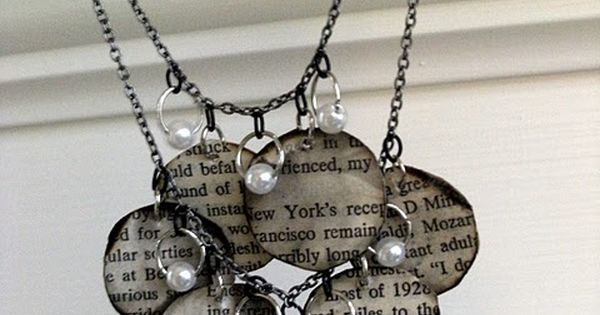 Book page necklace. I personally don't like the style, but I love