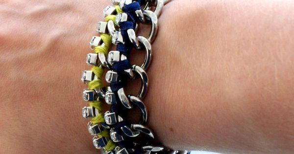 DIY Wrapped Diamante Bracelets by dismountcreataive DIY Bracelet diy decorating ideas diy