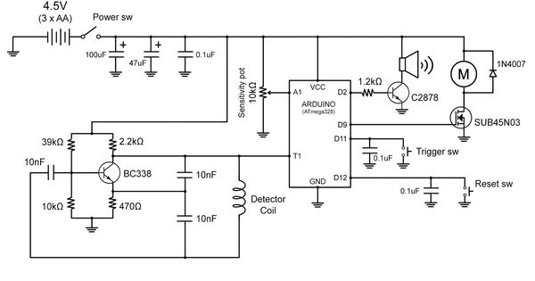 arduino based metal detectir
