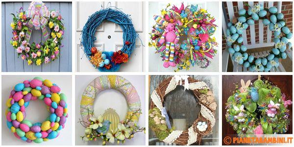 50 foto di ghirlande pasquali da cui trarre idee per il fai da te pasqua pinterest - Decorazioni uova pasquali per bambini ...