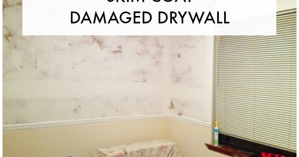 How To Fix And Skim Coat Damaged Drywall Drywall And