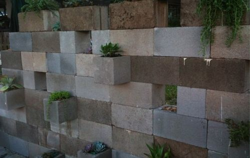 Another View Of Cinder Block Wall They Left Some Without