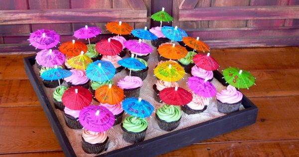 Luau cupcakes hawaiian party ideas pinterest galeries bruin en graham crackers - Graham en bruine behang ...