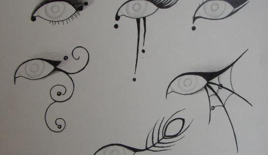 Halloween Eye Makeup - I like the spider web