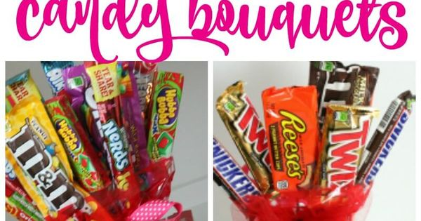 Make Your Own Candy Bouquets For Valentines Day, Fathers
