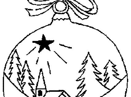 Christmas Ball Coloring Pages Coloring Pages