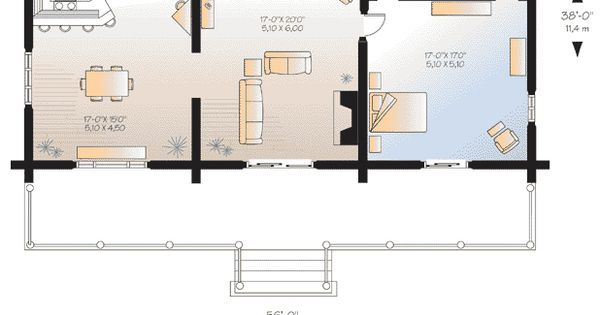 Log HomePlan 64969 has 3493 square feet of living space with 4 bedrooms and 2.5 bathrooms. Main level: 9' ceiling. Closed foyer with coat closet, kitchen with lunch counter, dining room, living room with fireplace, master suite with walk-in closet and pri...