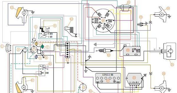 1981 Vespa P200E VSX1T Electrical Wiring P200e project