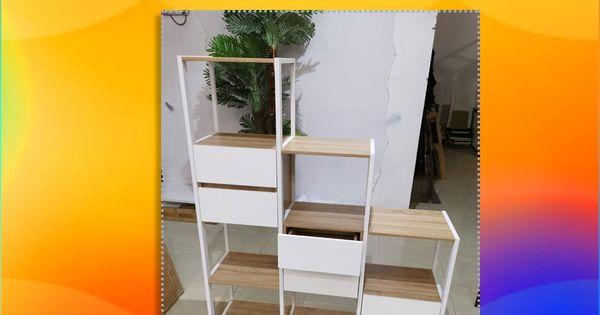 رفوف مع ادراج بيج ورصاصي Home Decor Loft Bed Decor