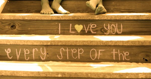 On the stairs were Hunter proposed engagement photo idea. LOVE