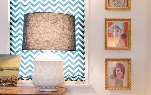 I love the chevron curtains. Raya Carlisle sneak peek on DesignSponge.