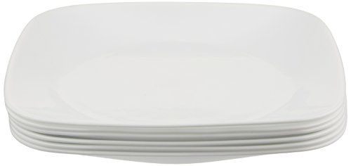 Corelle Square Pure White 9 Inch Plate Set 6 Piece For Product Price Info Go To Https All4hiking Com Produc Plates Pure Products Square Dinnerware Set
