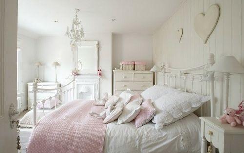 englische schlafzimmer interieur ideen - rosa pastellfarben, Deko ideen