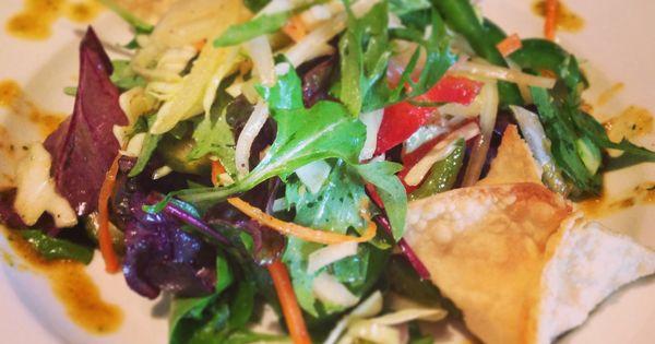 Crab Rangoon Salad w/ Cabbage Slaw and Asian Vinaigrette # ...