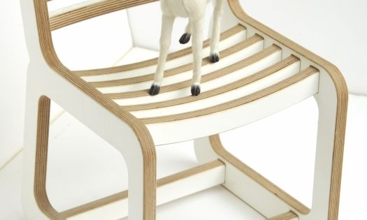 Chaise enfant design unto this last blanc et bois - Chaise bar enfant ...