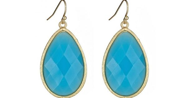 Turquoise Teardrop Earrings. There are also other beautiful colors available!