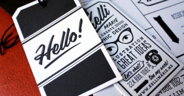 Kelli Marie - Business Card Design Inspiration | Card Nerd