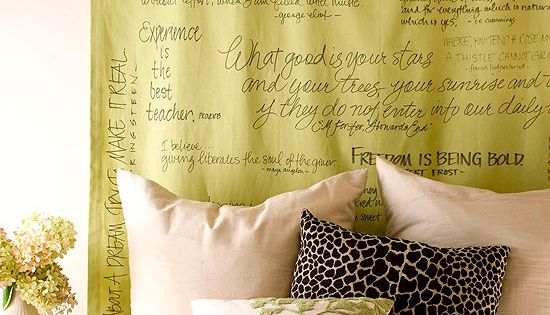 Cheap & Chic DIY Headboard Ideas Make a personal statement in your