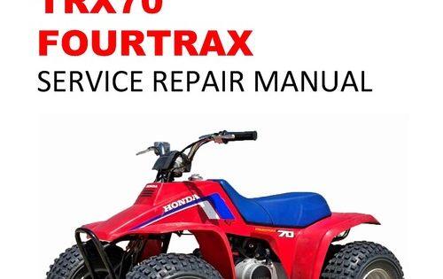 1986 1987 Trx70 Fourtrax Service Repair Workshop Manual Repair Repair Manuals Manual
