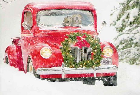 Dashing through the snow... Holidays - Christmas - Winter - Car -