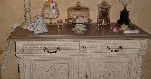 console henri ii patine ficelle dessus champignon bricolage pinterest painting techniques. Black Bedroom Furniture Sets. Home Design Ideas