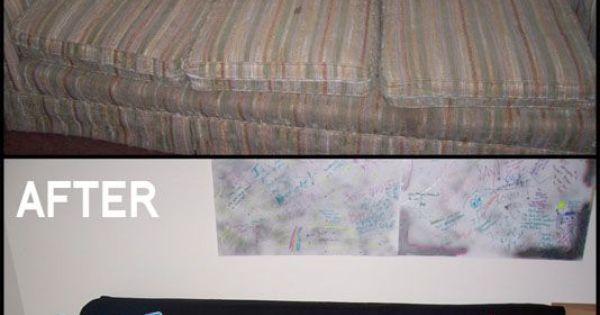 DIY Couch Makeover Use Sheet To Cover And Sew Slip