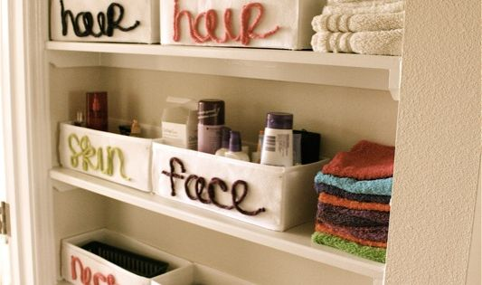 Cute idea bathroom closet organization
