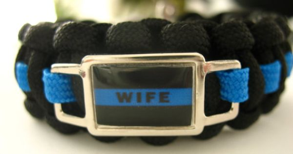 Bracelet blue line law enforcement wife and law enforcement