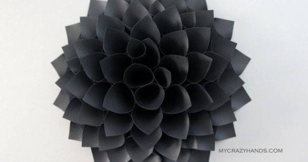 texture paper dahlia 9 dahlia wall art origami flower wedding gift origami gifts dahlia door wreath texture black paper