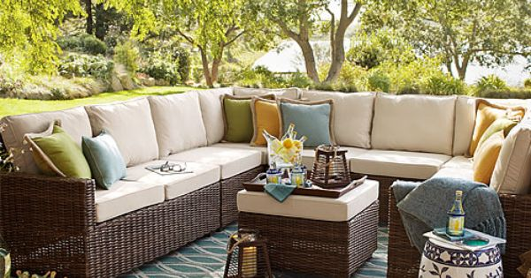 Echo beach sectional seating outdoor pier one x for H furniture facebook