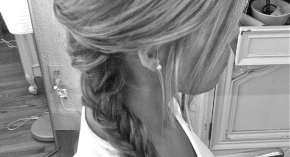 teased fish tail side braid... if only I was talented enough to