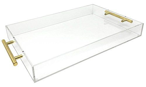 Isaac Jacobs Clear Acrylic Tray With Handle 11x17 Clear Https Www Amazon Com Dp B071xjr3x1 Ref Cm Sw R P Acrylic Serving Trays Gold Handles Acrylic Tray