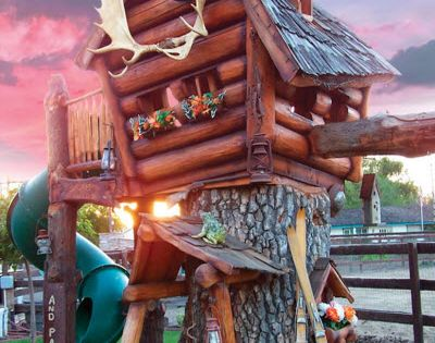 For my future kids! The Log Cabin Tree Lodge - Hammacher Schlemmer