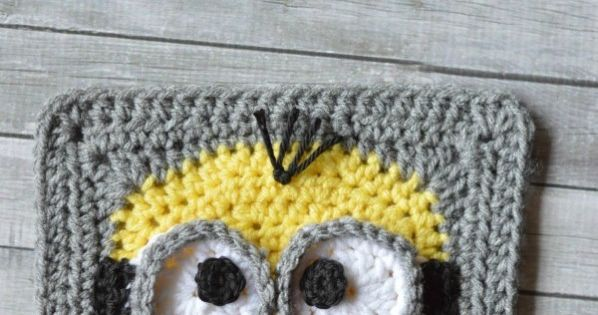 Free Crochet Pattern Minion Overalls : Free Crochet Pattern - Minion Crochet Afghan Square Make ...