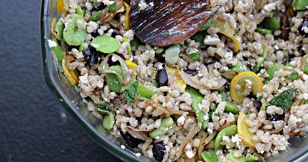Barley salad, Warm and Salads on Pinterest