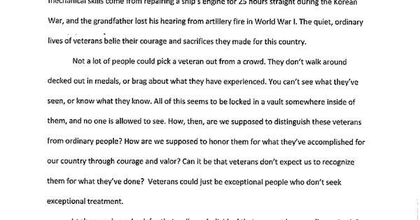 veterans day essay for kids
