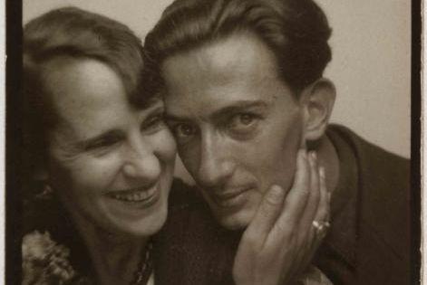 Salvador Dali and wife Gala photobooth