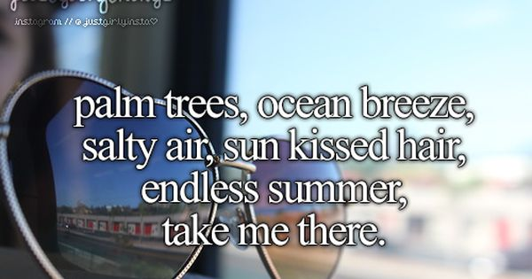 Palm Trees, Ocean Breeze, Salty Air, Sun Kissed Hair