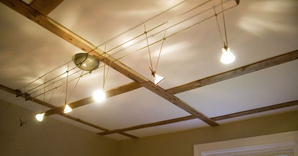 Lighting Basement Washroom Stairs: Track Lighting - Cool Cable Track